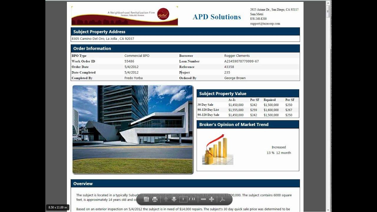 Real Estate Bpo Form Pdf