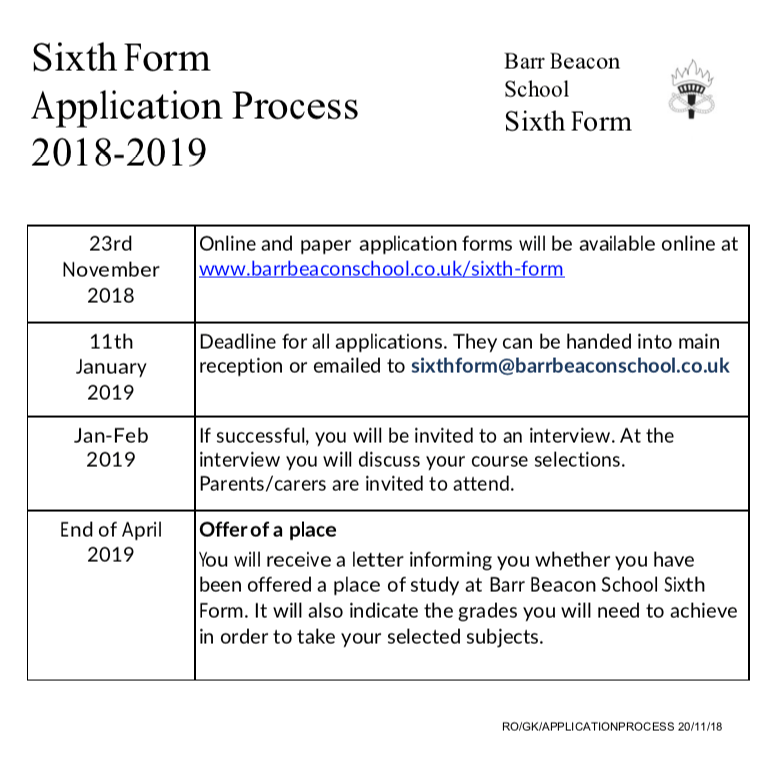 Reception Application Form 2018