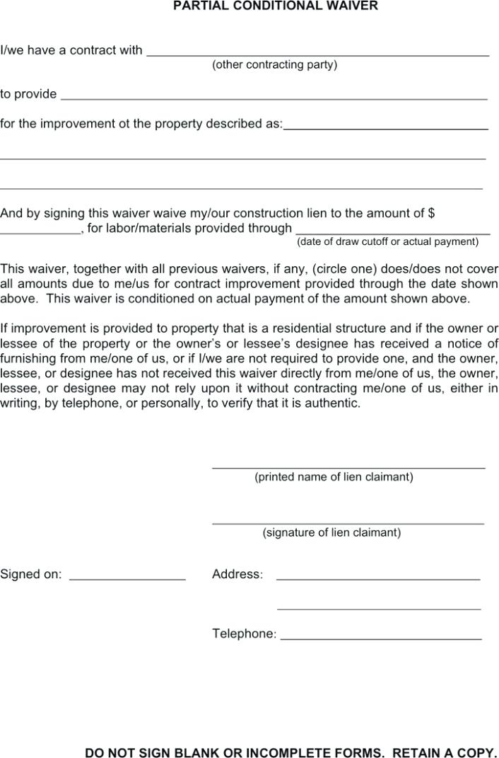Release Of Judgment Lien Form Florida