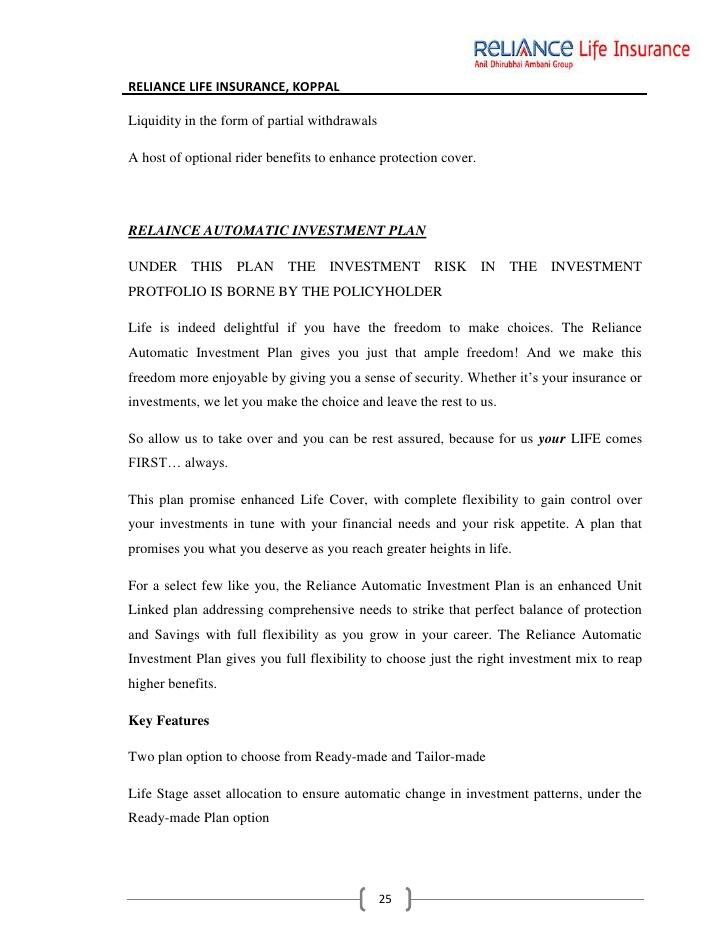 Reliance Life Insurance Claim Form Pdf