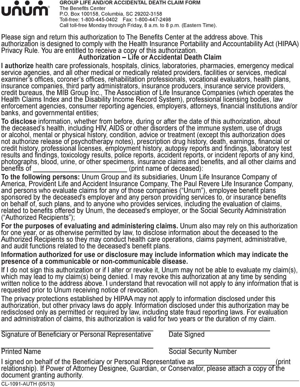 Reliastar Life Insurance Company Death Claim Form