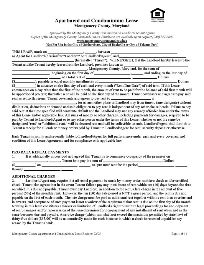 Rental Agreement Form Washington State