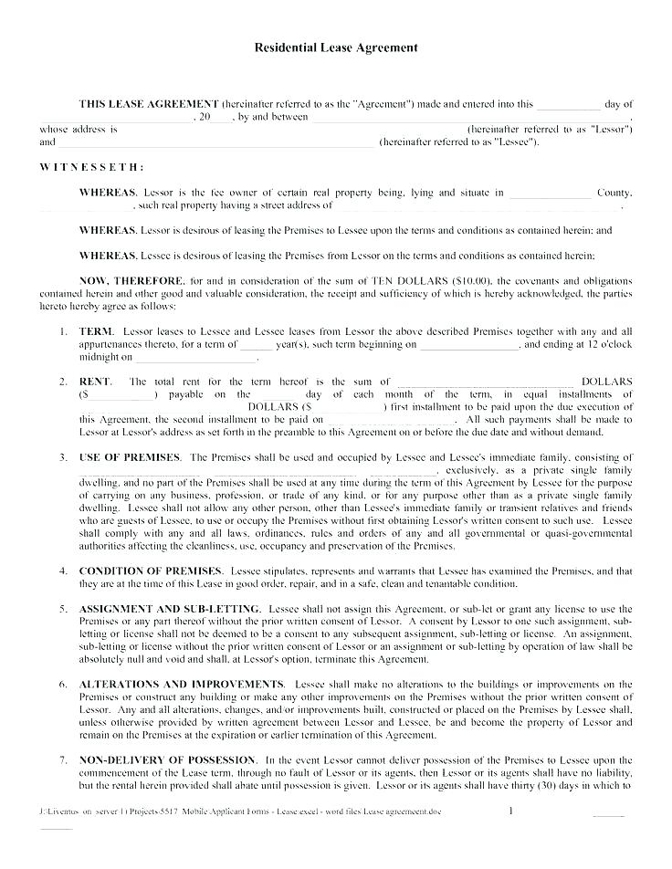 Rental Agreement Format For Office