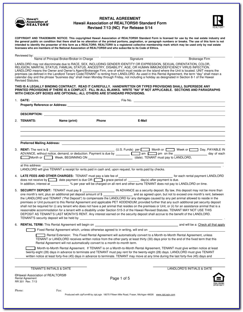 Rental Application Form California Association Of Realtors