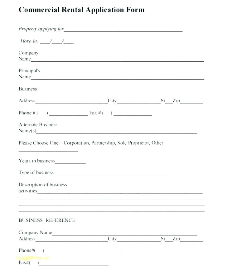 Rental Application Form Template Alberta