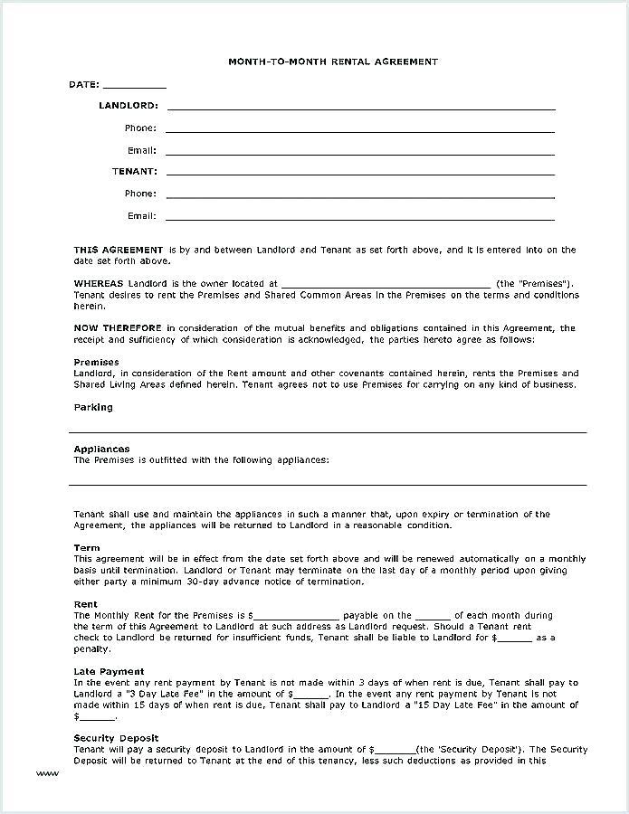 Rental Application Forms Canada