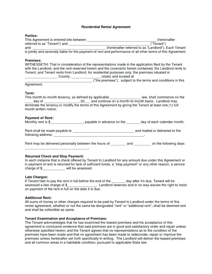 Rental Forms For Landlords Free