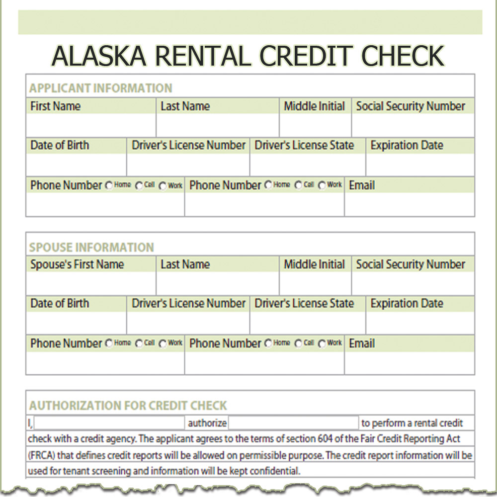 Renter Credit Check Authorization Form