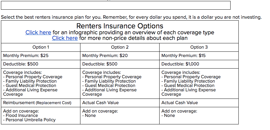 Renters Policy Form Number