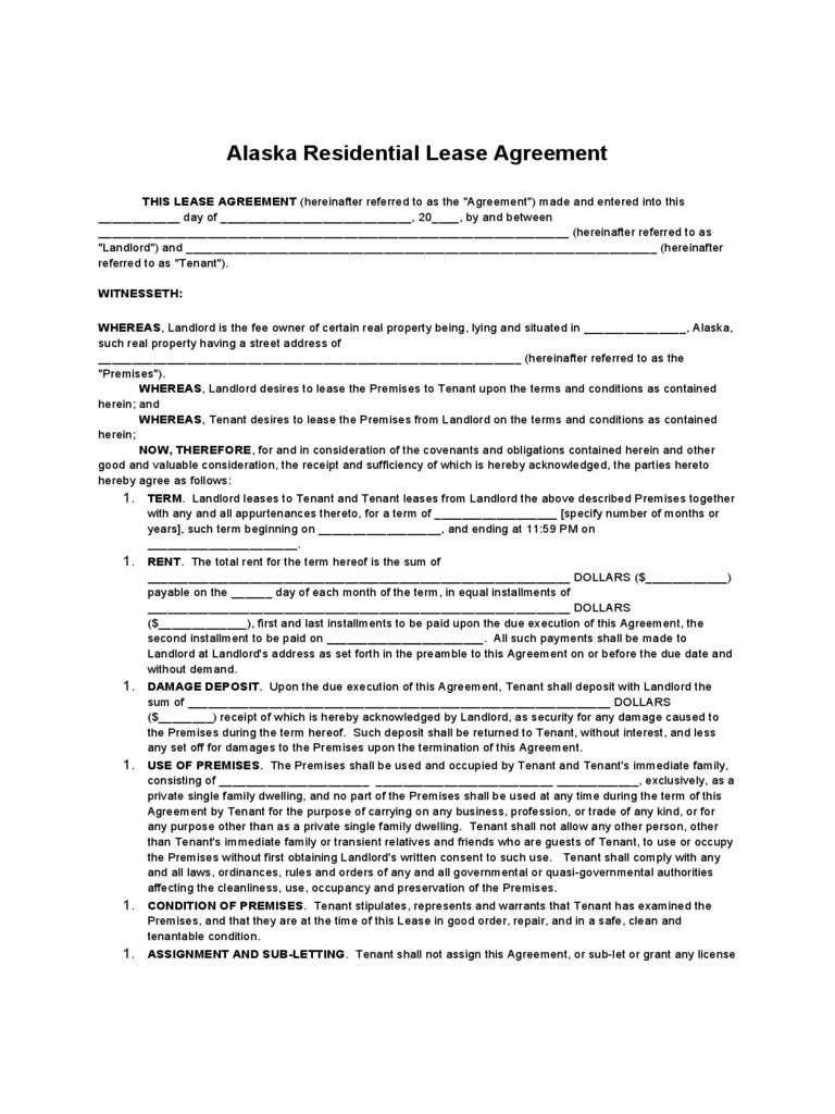 Residential Tenancy Agreement Form 2018