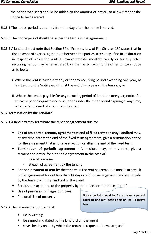 Residential Tenancy Agreement Form Fiji