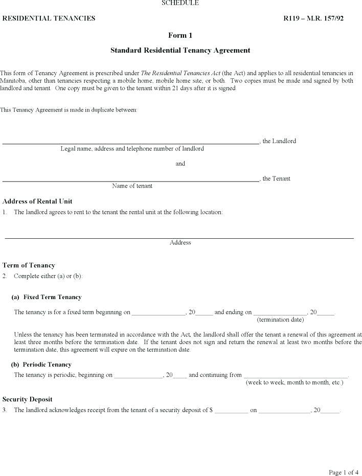 Residential Tenancy Application Form Ontario