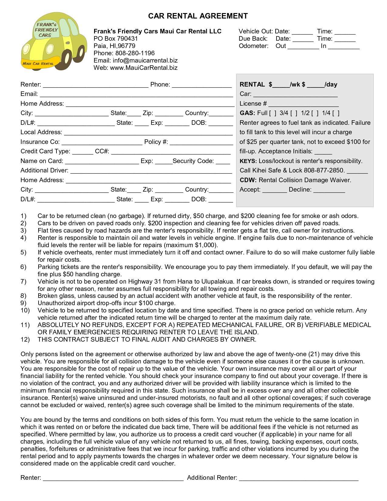 Residential Tenant Application Form
