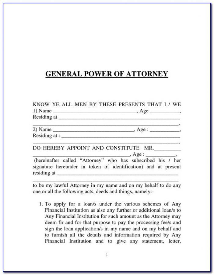 Revoke Power Of Attorney Form Texas