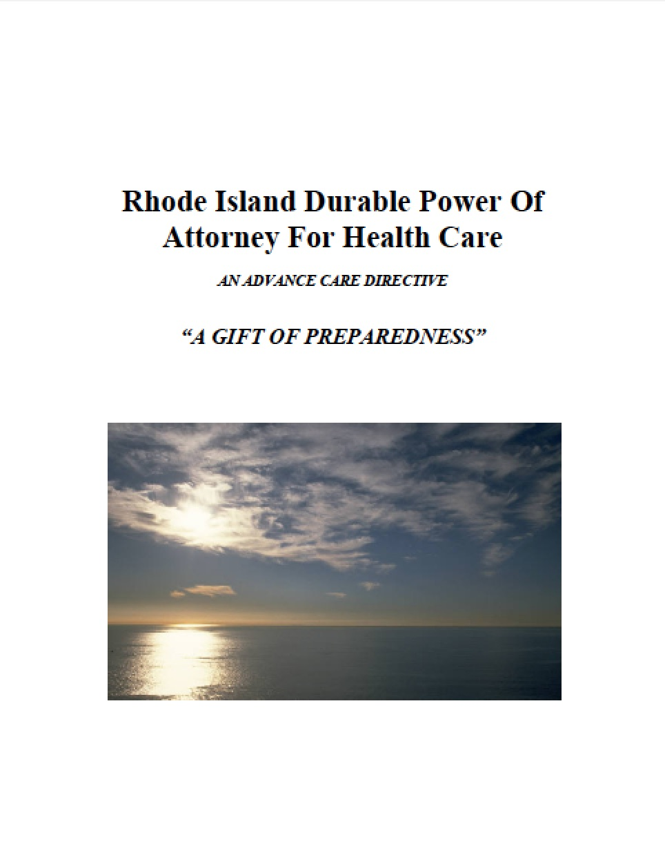 Ri Health Care Power Of Attorney Form