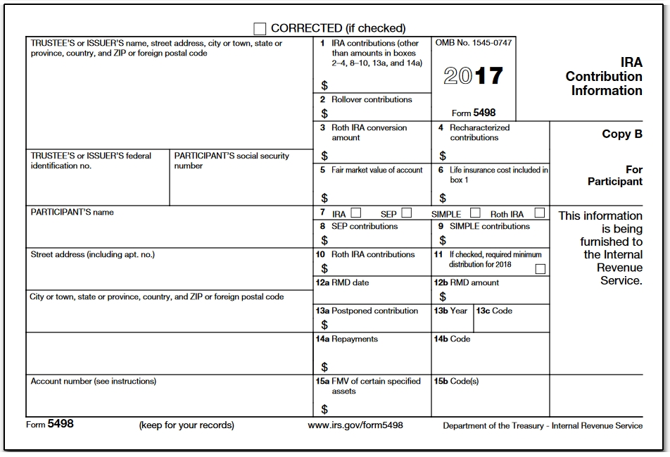 Roth Ira Form 5498 Taxes