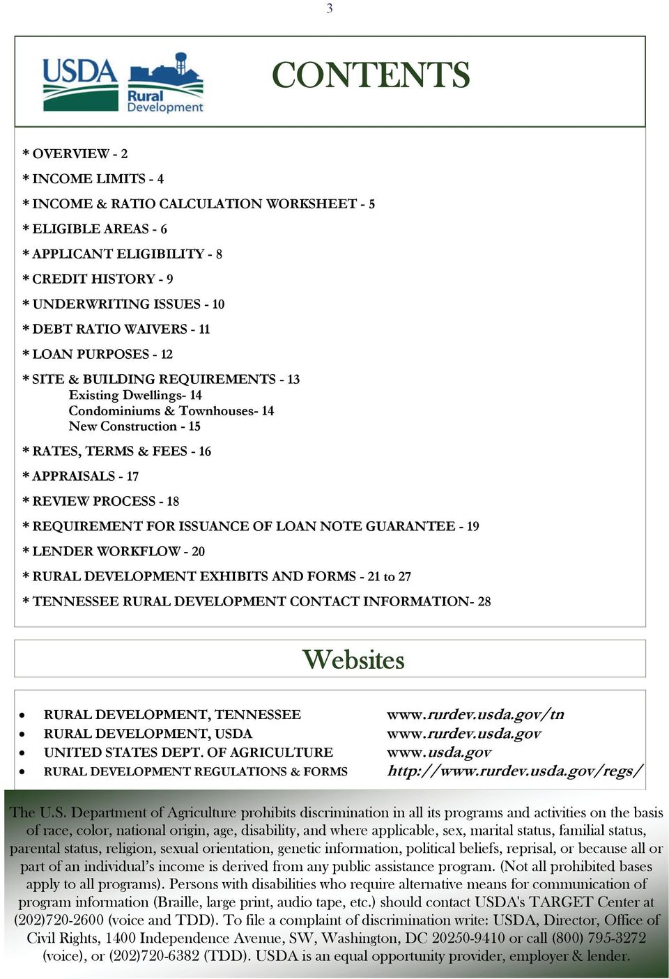 Rural Development Loan Forms