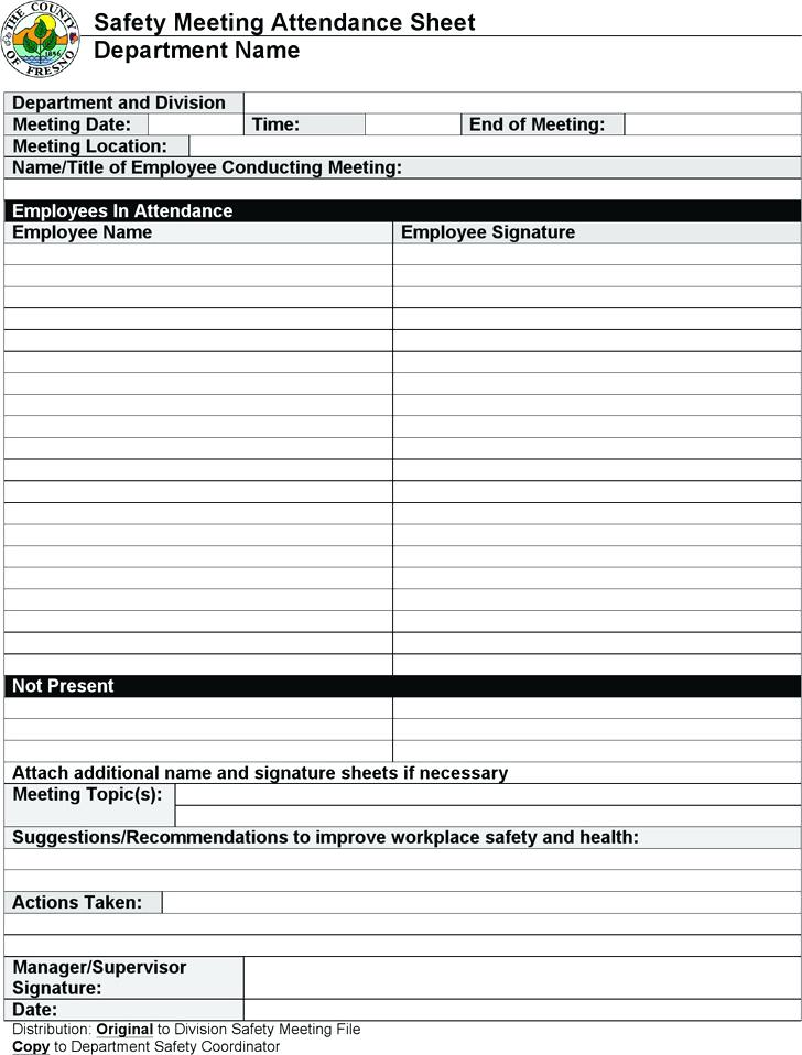 Safety Toolbox Talk Forms