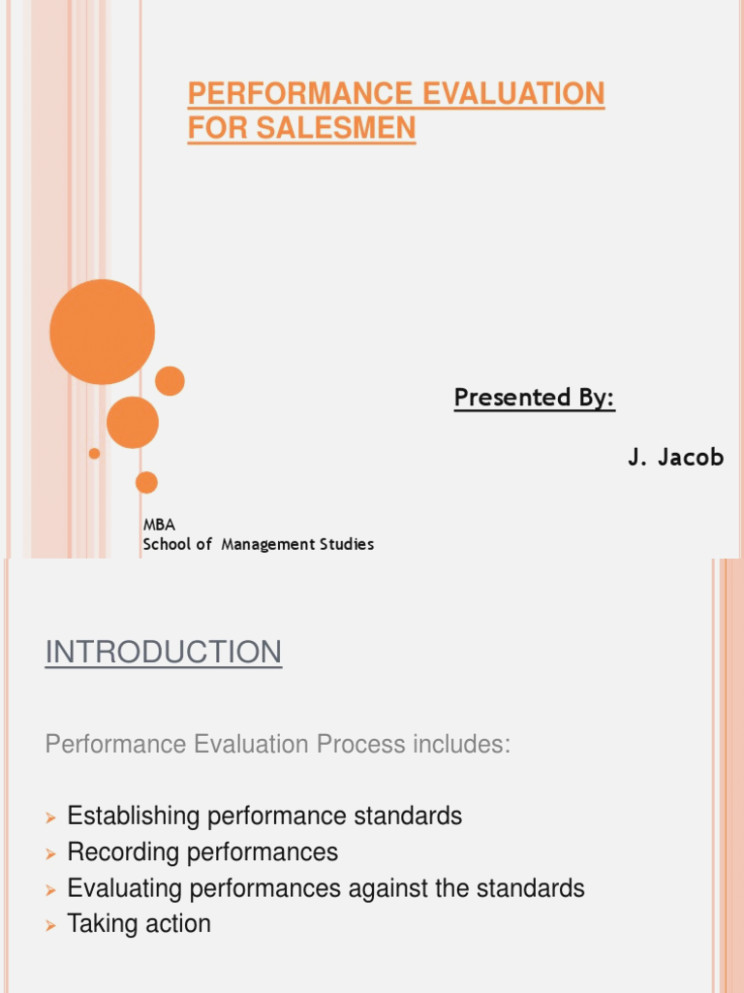 Salesperson Performance Evaluation Form