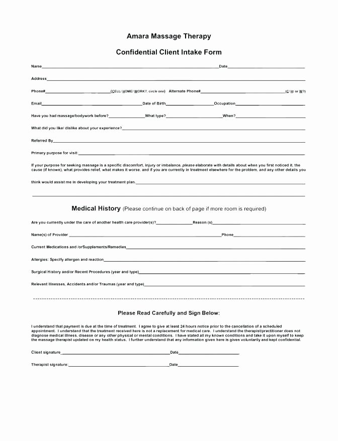 Sample Counseling Intake Assessment Form