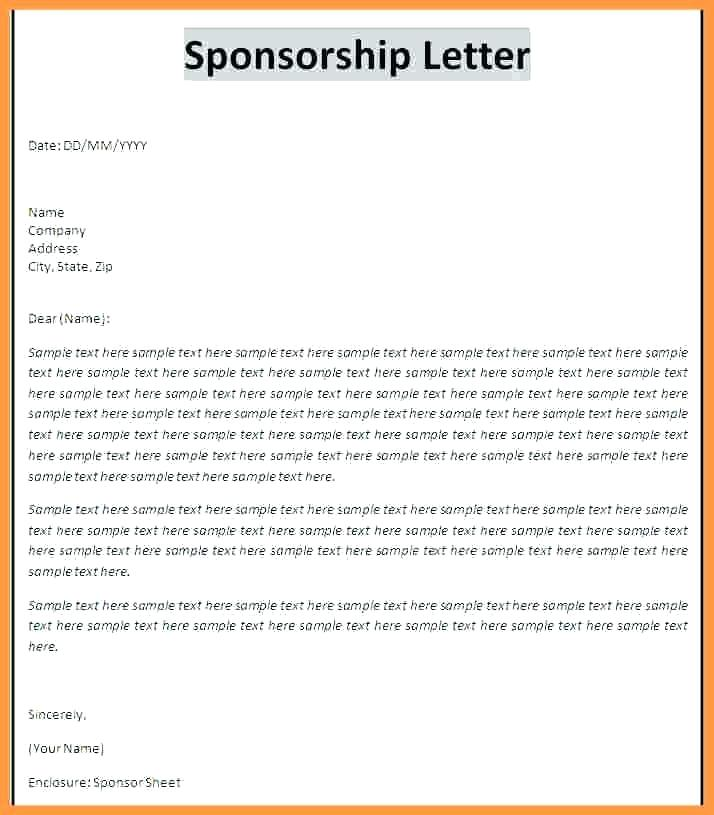 Sample Fundraiser Sponsorship Form