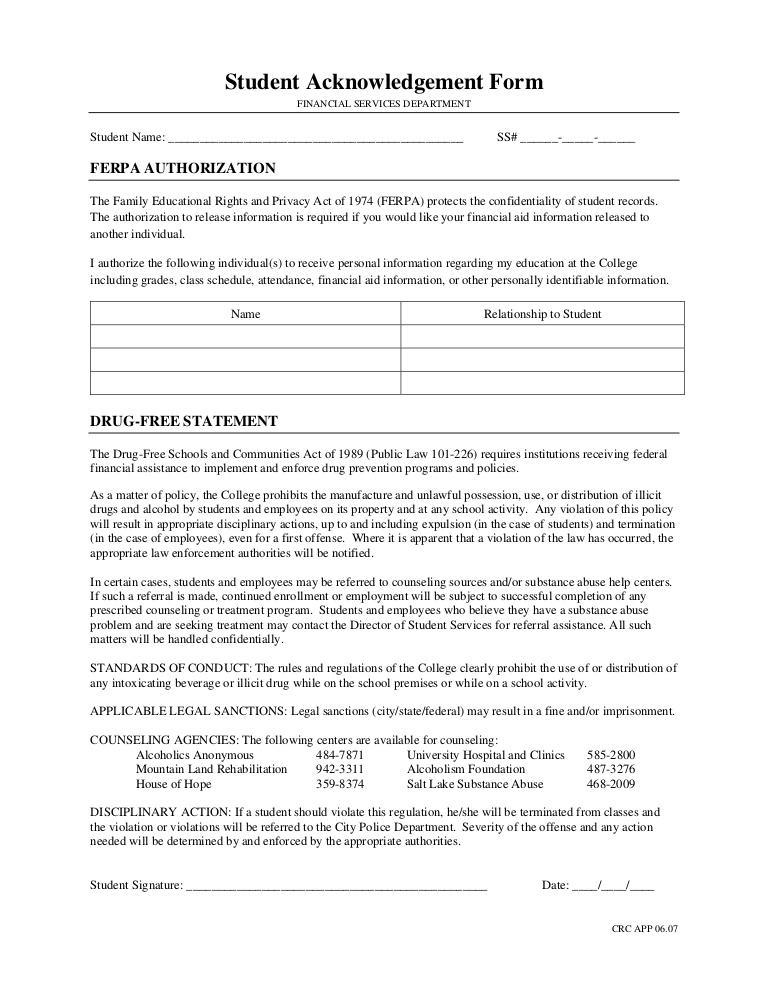 Sample Hipaa Acknowledgement Form