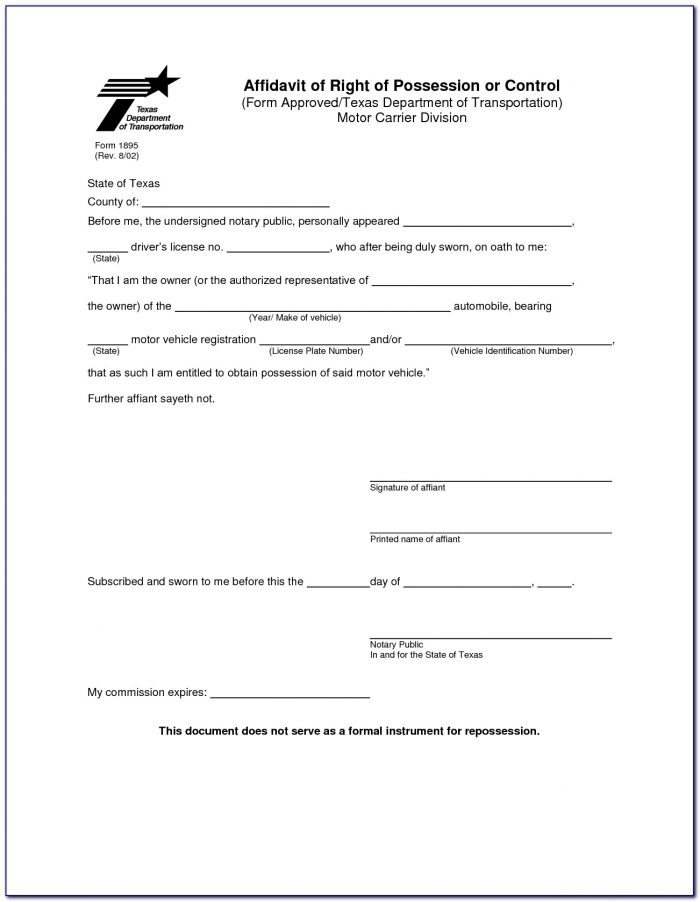 Sample Notary Template