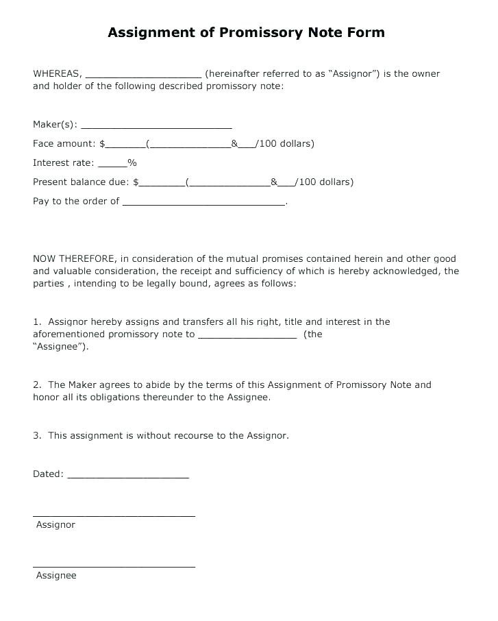 Sample Personal Promissory Note Form
