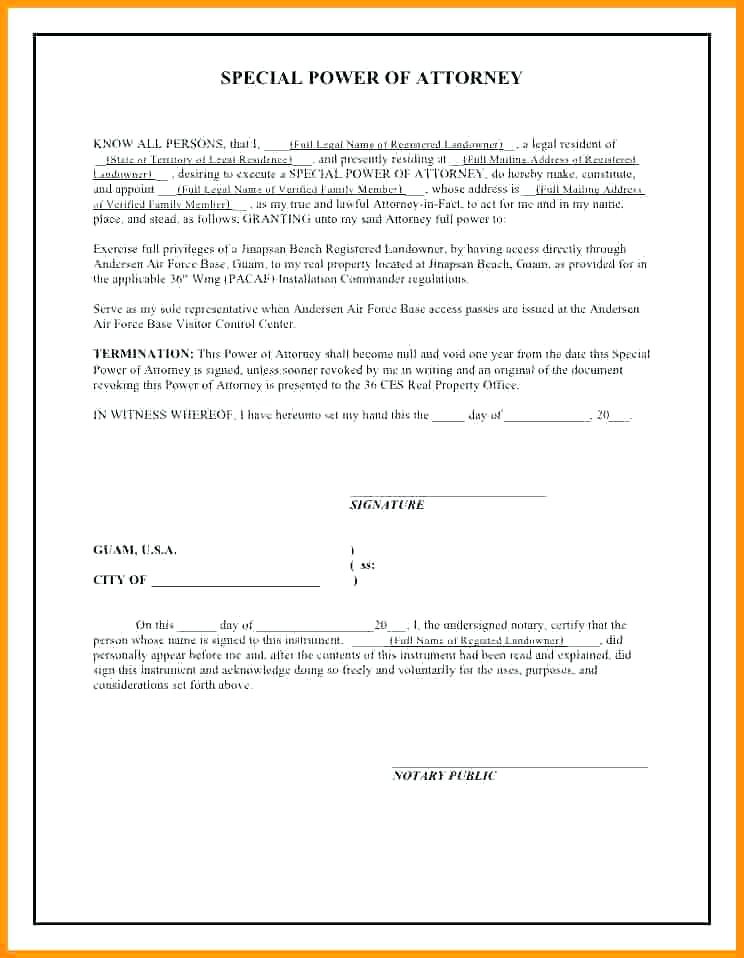 Sample Power Of Attorney Form Ny