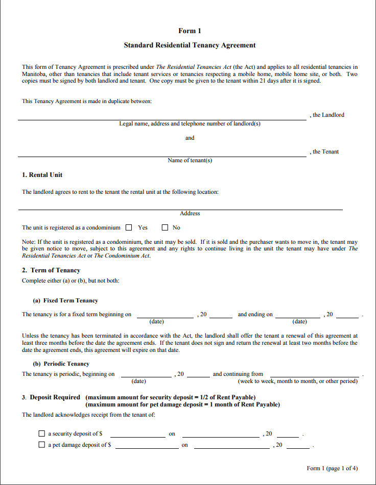 Sample Tenancy Agreement Form