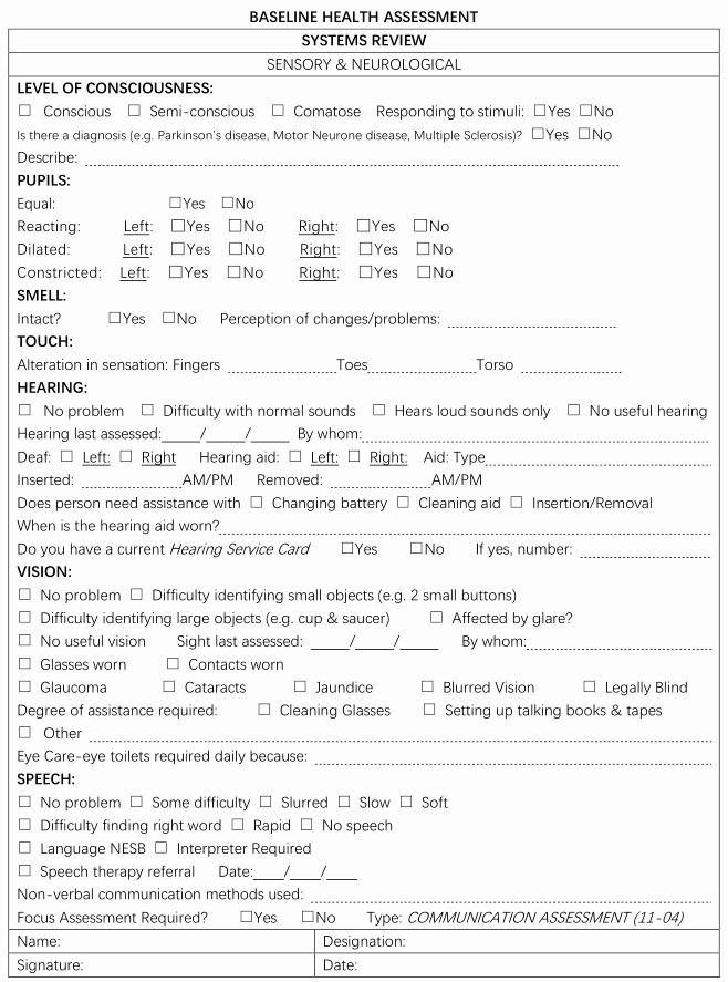 Wound Care Documentation Template Luxury Nursing Assessment Form Sample Zrom