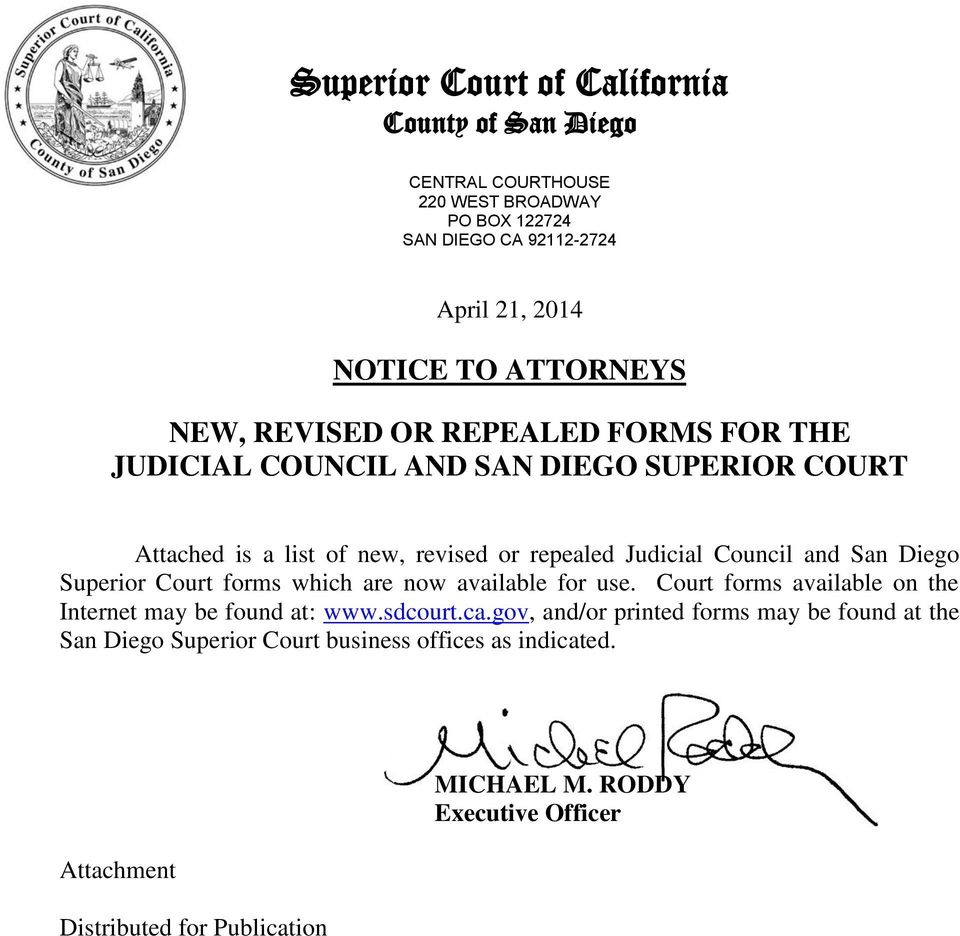 San Diego County Superior Court Forms