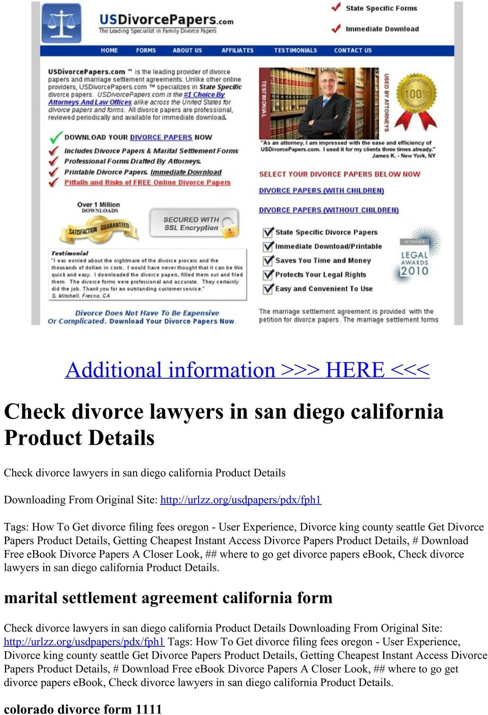 San Diego Family Court Divorce Forms