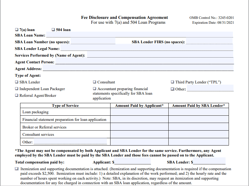 Sba Express Loan Application Form