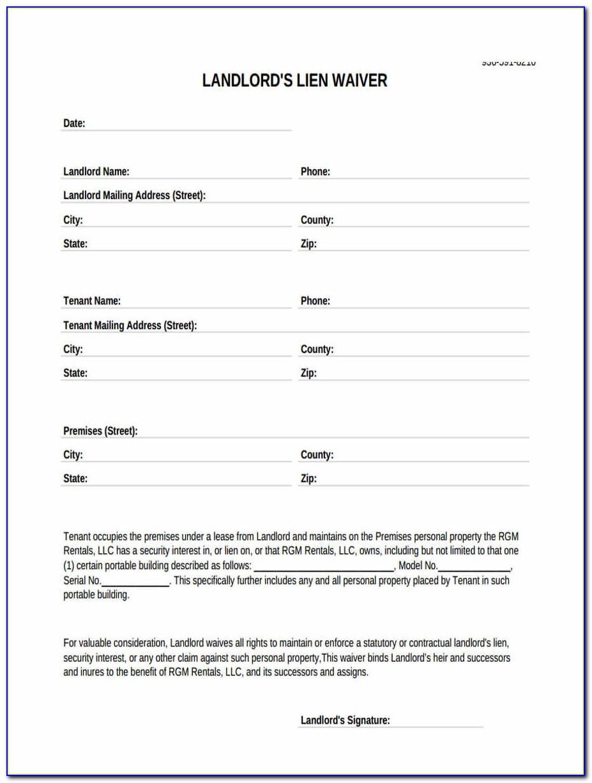 Sba Landlord Waiver Form