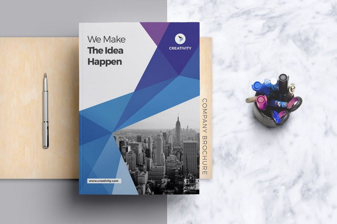 70+ Modern Corporate Brochure Templates | Design Shack Within Company Brochure Templates