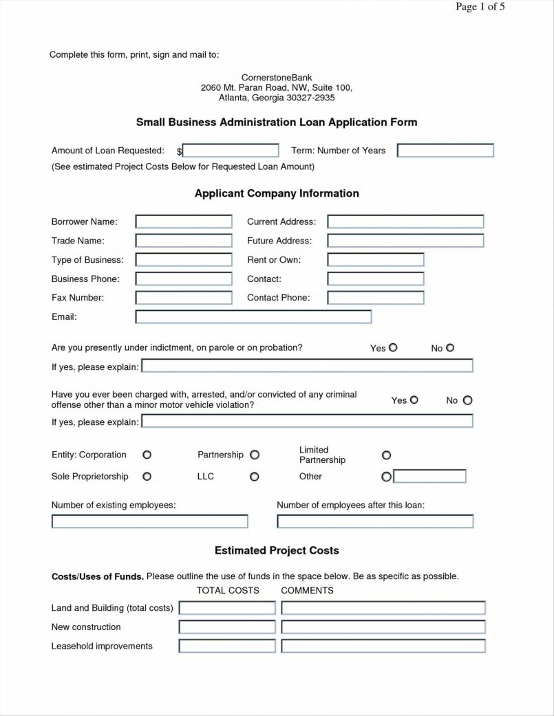 Loan Application Form Template Pm Small Business Komunstudio Doc For Free Business Loan Application Template