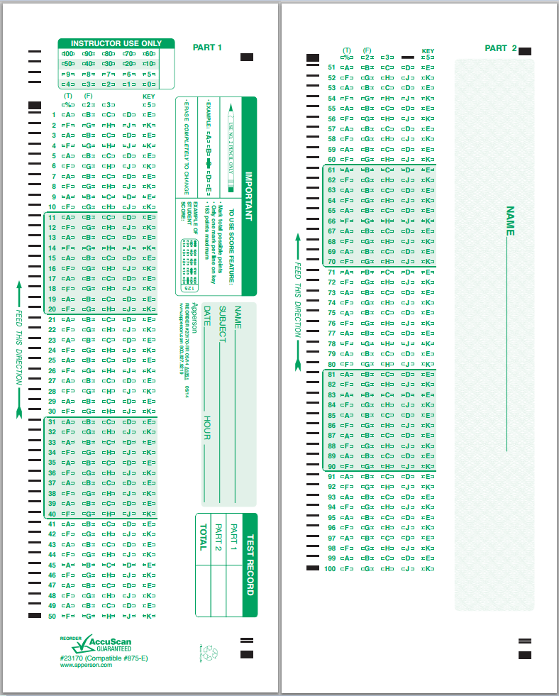 Scantron Forms Near Me