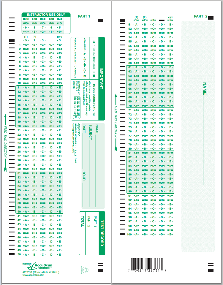 Scantron Forms Where To Buy