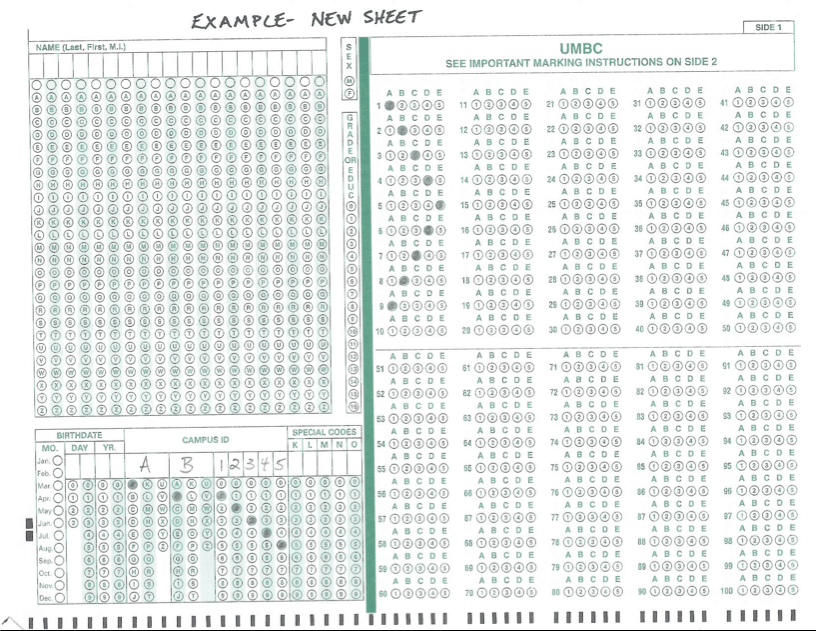 Scantron Forms