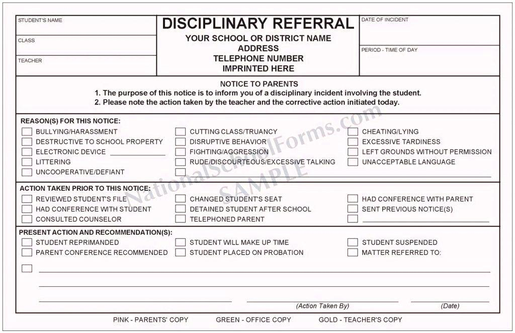 School Counseling Referral Form Template