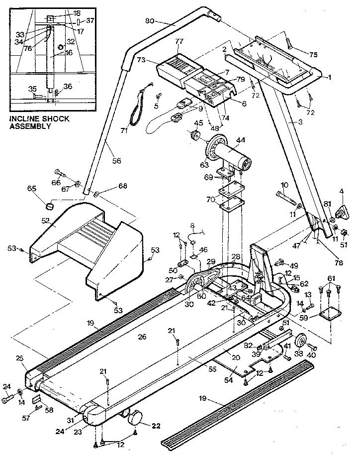Sears Proform Treadmill Parts