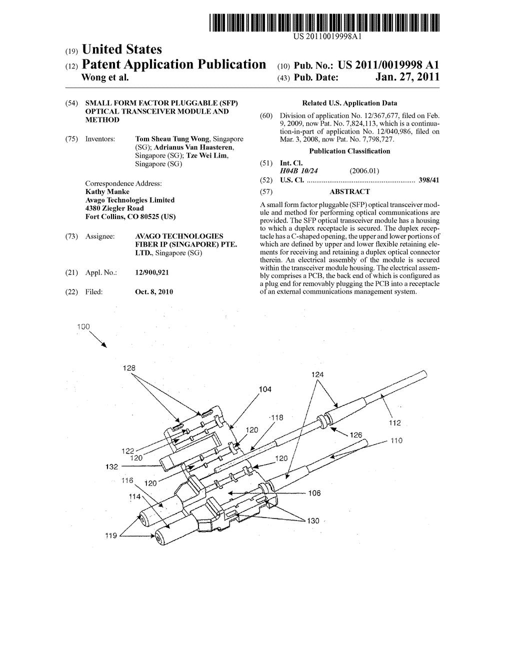 Sfp Small Form Factor Pluggable Optical Transceiver Module