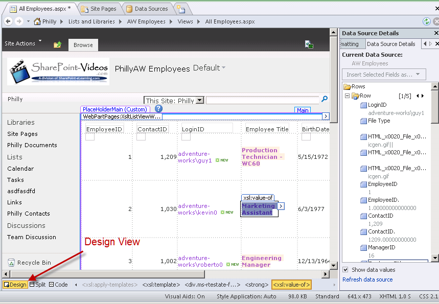 Sharepoint Designer Form Editor