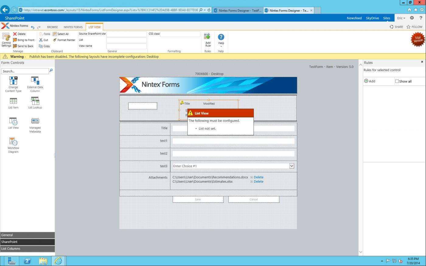 Sharepoint Nintex Forms Tutorial