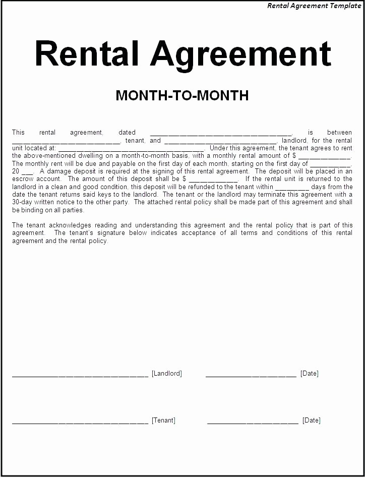 Simple Lease Agreement Form