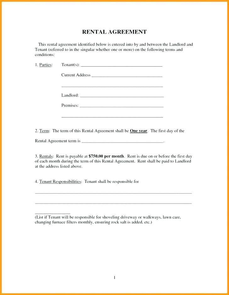 Simple Tenancy Agreement Form Free
