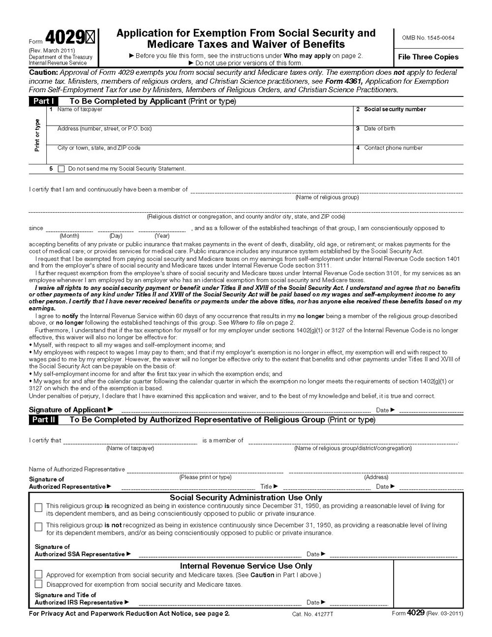Social Security Disability Application Form 3368
