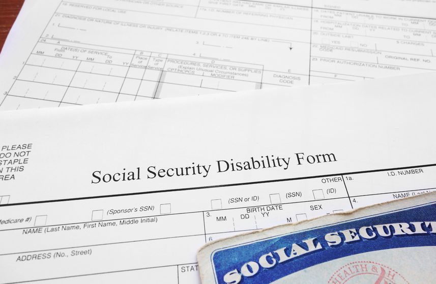 34580548 Social Security Disability Form And Social Security Card
