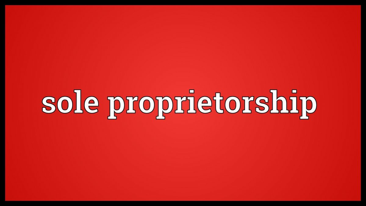 Sole Proprietorship Registration Formalities
